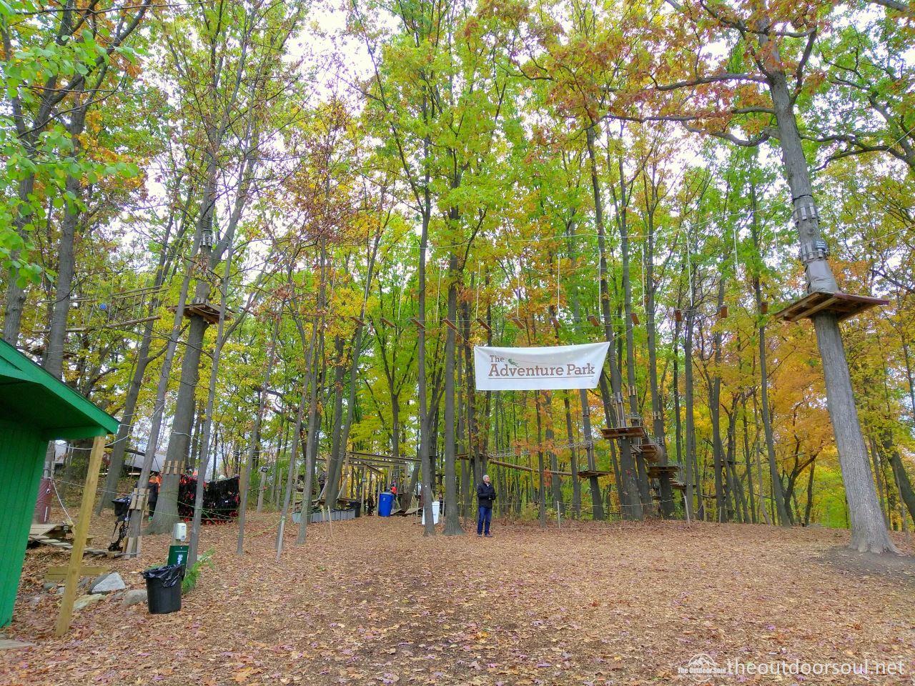 adventure park west bloomfield entrance sign