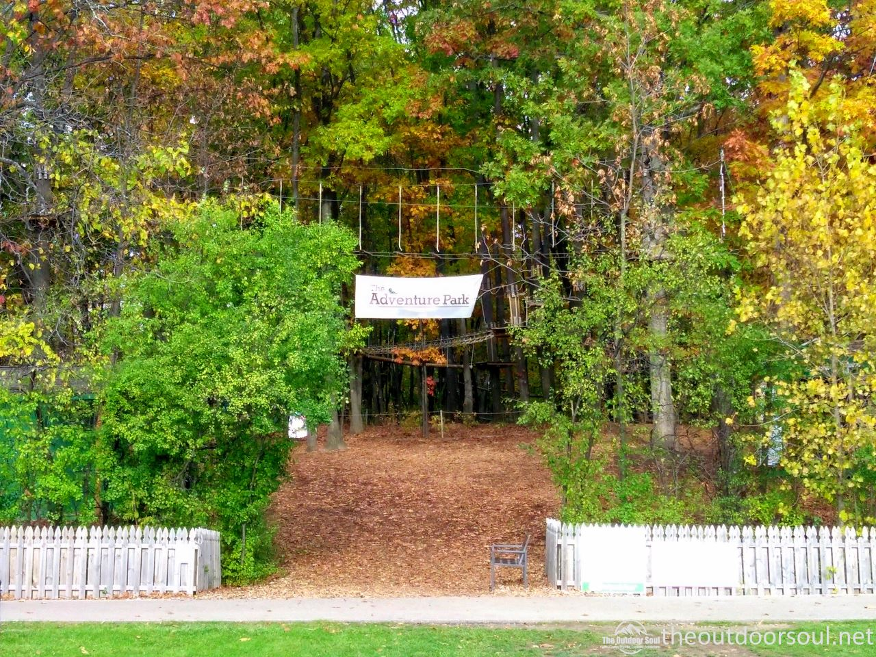 adventure park west bloomfield entrance sign