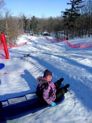 Abby-at-Lost-Lake-sledding-hill