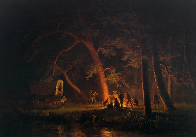Campfire Albert Bierstadt 1863