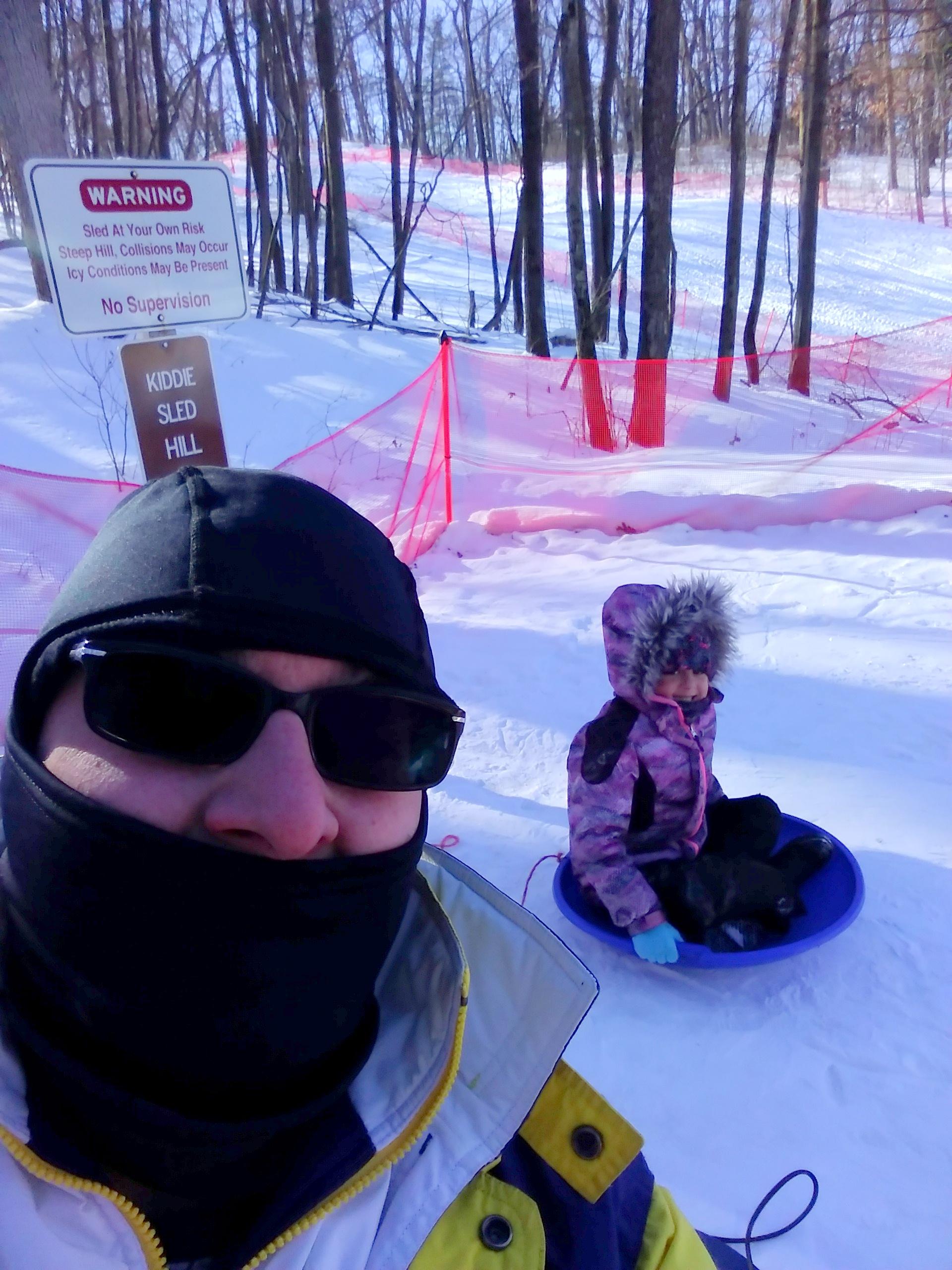 selfie at lost lake kiddie hill