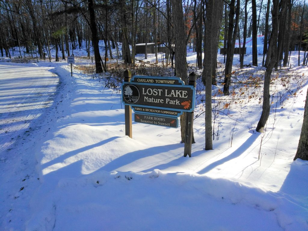 lost lake nature park sign